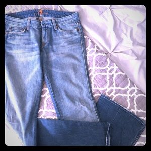 7 For All Mankind A Pocket Jeans - Milan Blue